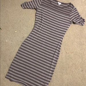 Gray Stripes LuLaRoe Julia Dress